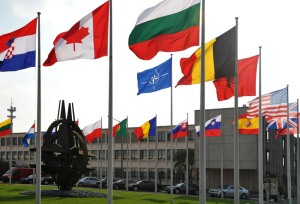 Flags of the 28 NATO member countries